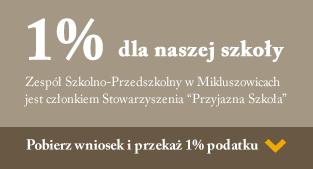 Przekaż 1 procent podatku na szkołę w Mikluszowicach